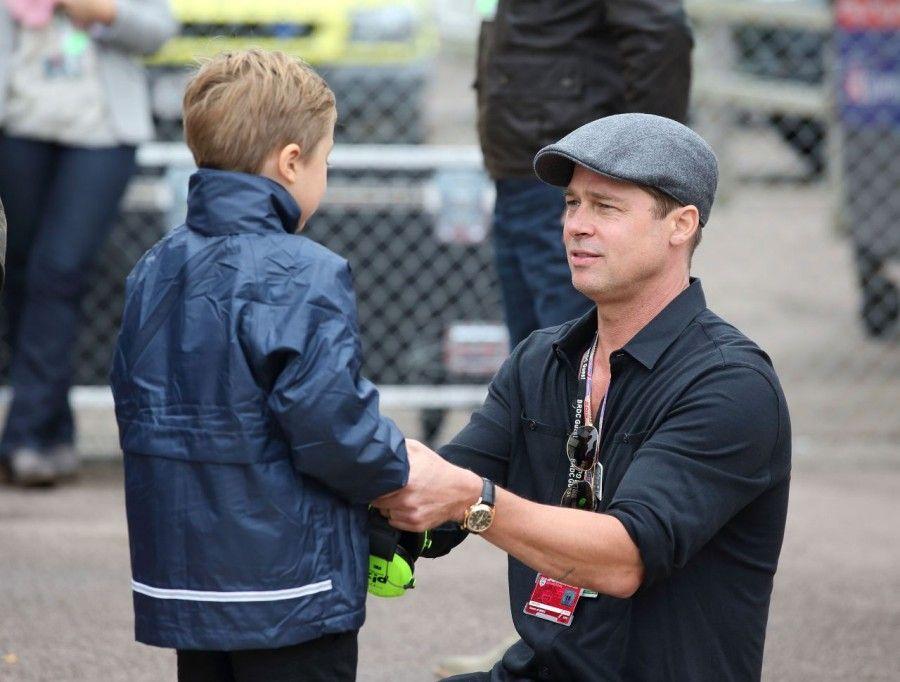 Brad Pitt and Knox