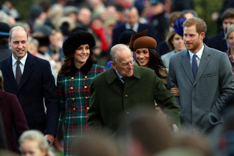 The royals at Sandringham