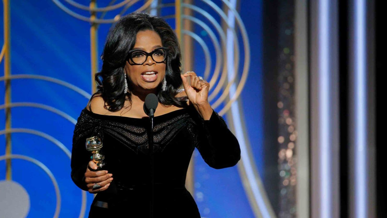 Oprah at the Golden Globes