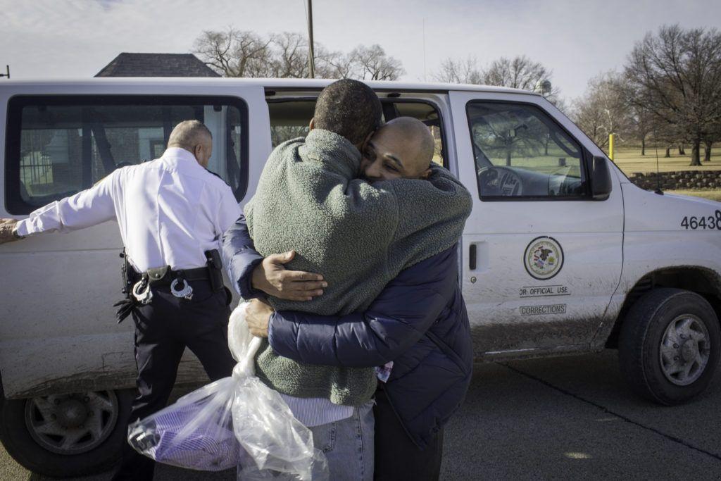 Malcolm Alexander leaving prison