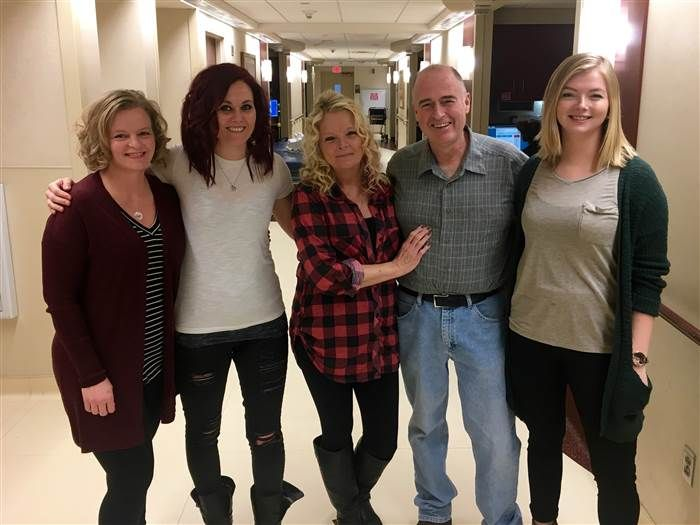 Bill Corey, Debbie Lewis, and her daughters