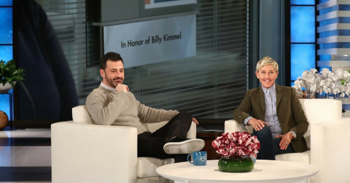 Ellen DeGeneres Surprises Jimmy Kimmel With Most Thoughtful Gift To ...