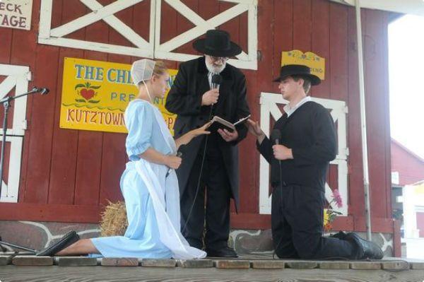 Amish wedding.