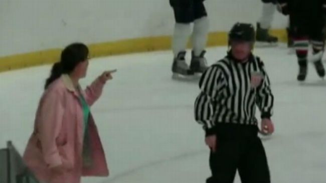 Hockey mom referee