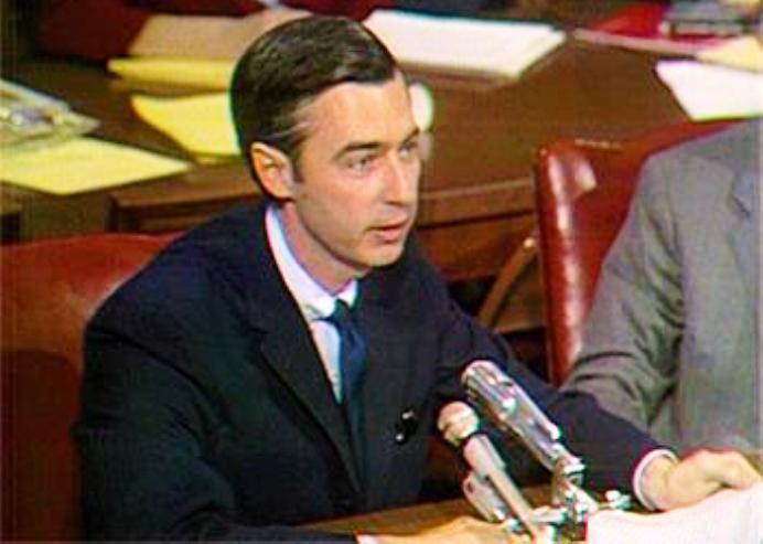 Mr. Rogers senate.