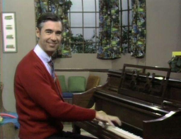 Mr Rogers piano.