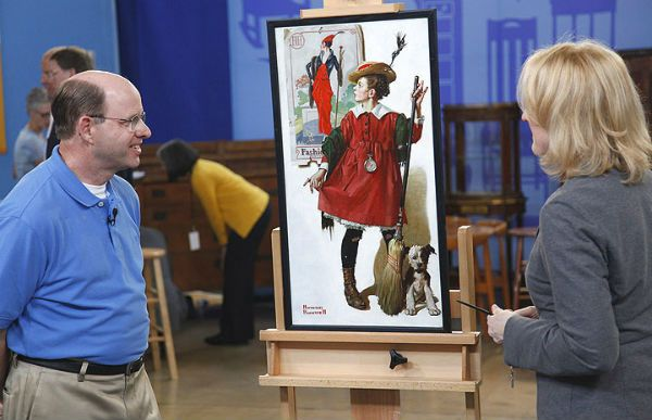Antiques Roadshow - Normal Rockwell painting