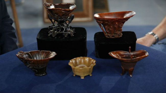 Antiques Roadshow - rhino teacups