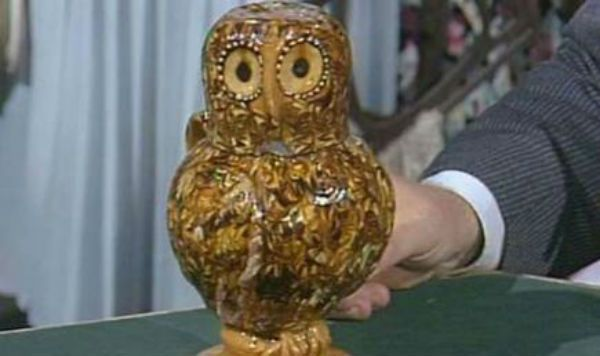 Antiques Roadshow - owl vase