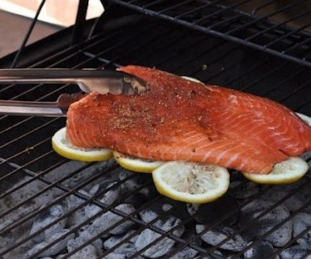Salmon Fillet on a bed of lemons