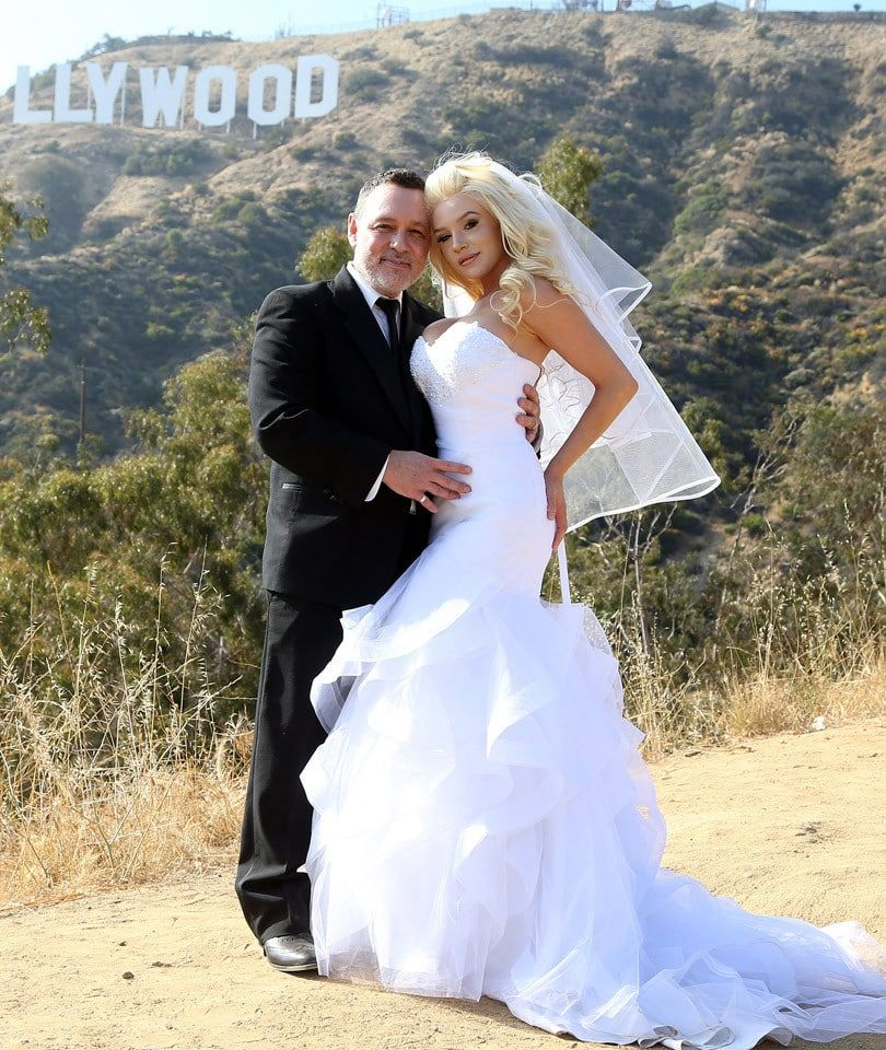Courtney Stodden on her wedding day to Doug Hutchinson