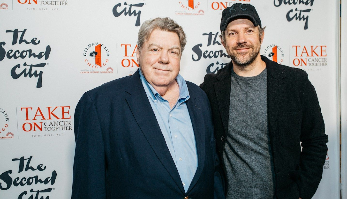 Jason Sudeikis and George Wendt at Second City