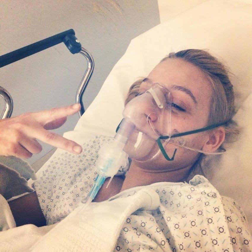 Bekah Georgy in hospital