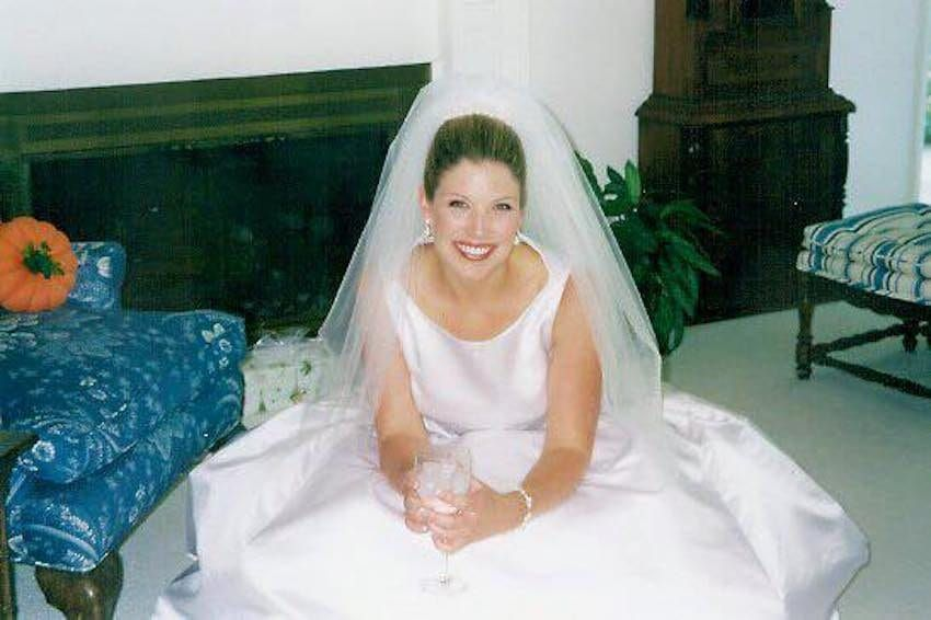 Kate in her wedding dress