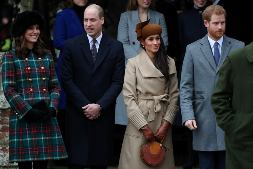 Prince William, Kate, Meghan, and Prince Harry