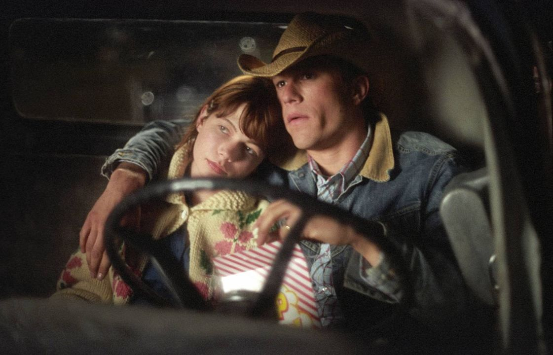 Heath Leger and Michelle Williams in Brokeback Mountain