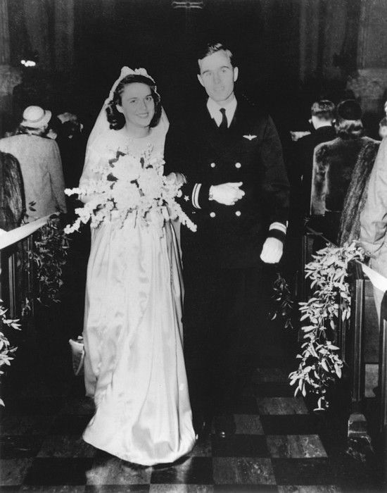 George and Barbara Bush Wedding Day