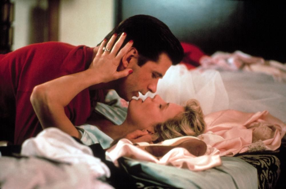 Kim Basinger and Alec Baldwin in The Marrying Man