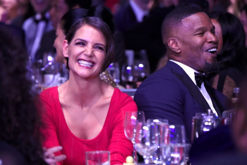 Katie Holmes and Jamie Foxx at the gala