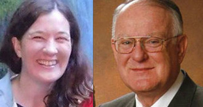 Kelli Rowlette and Dr. Gerald Mortimer, side by side