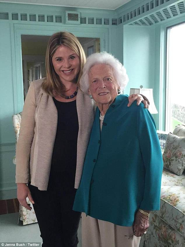 Jenna and Barbara Bush