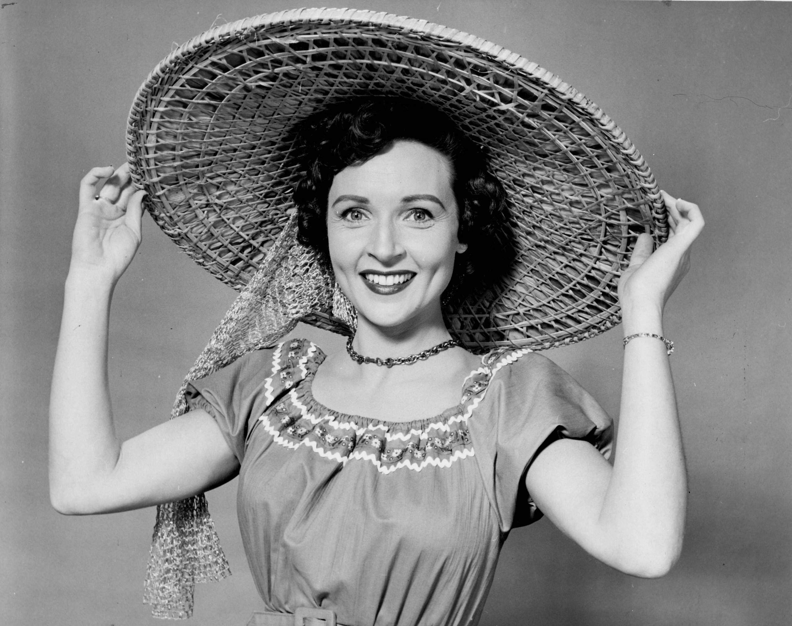 Betty White black and white photo