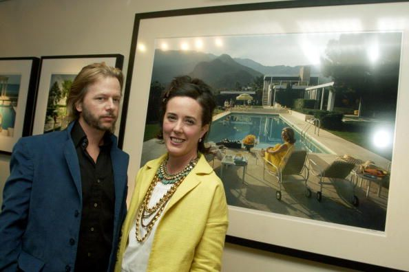 Kate and David Spade at an art gallery