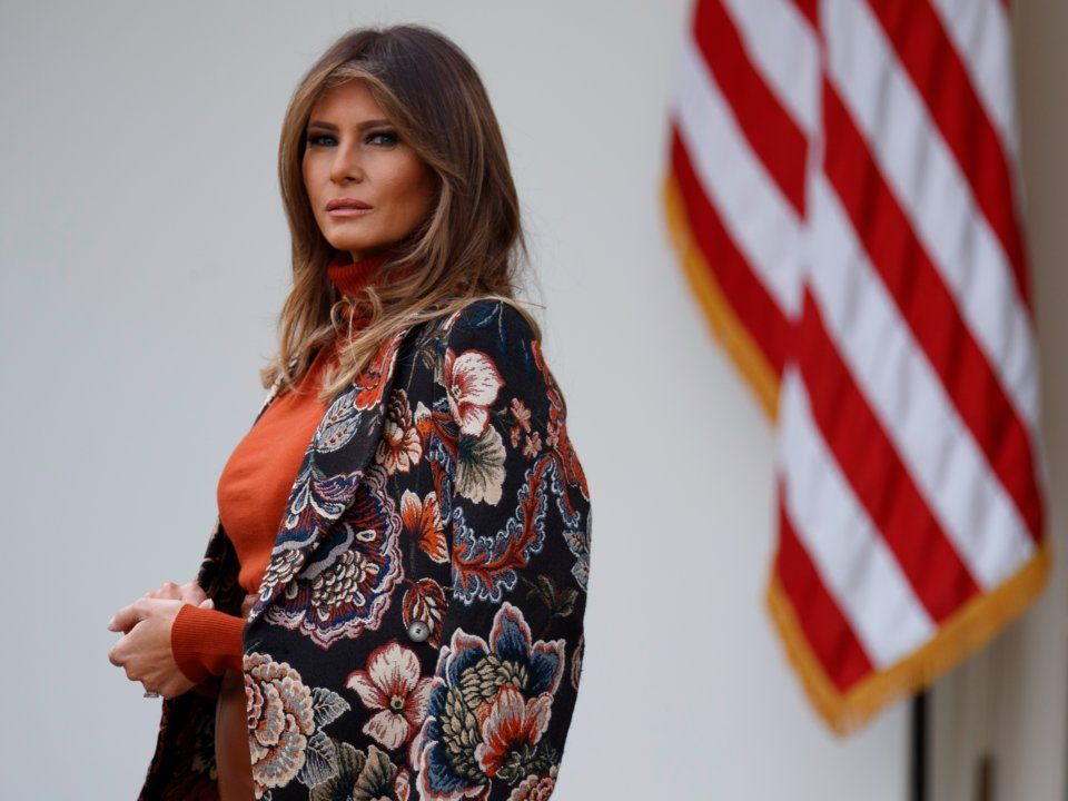 Melania Trump at the annual Turkey Pardon
