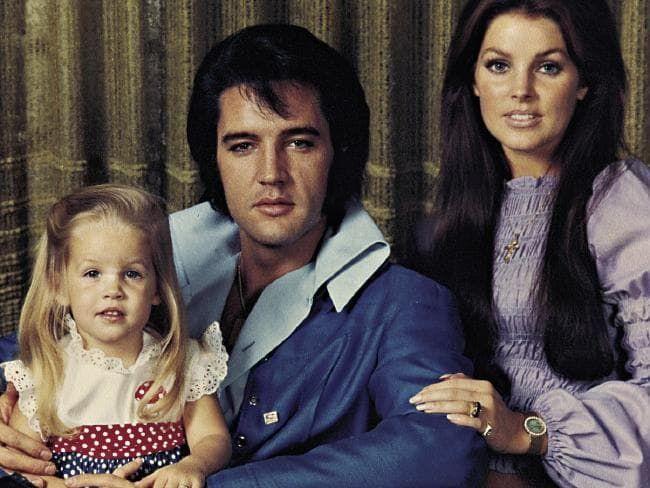 Elvis, Priscilla, and Lisa Marie