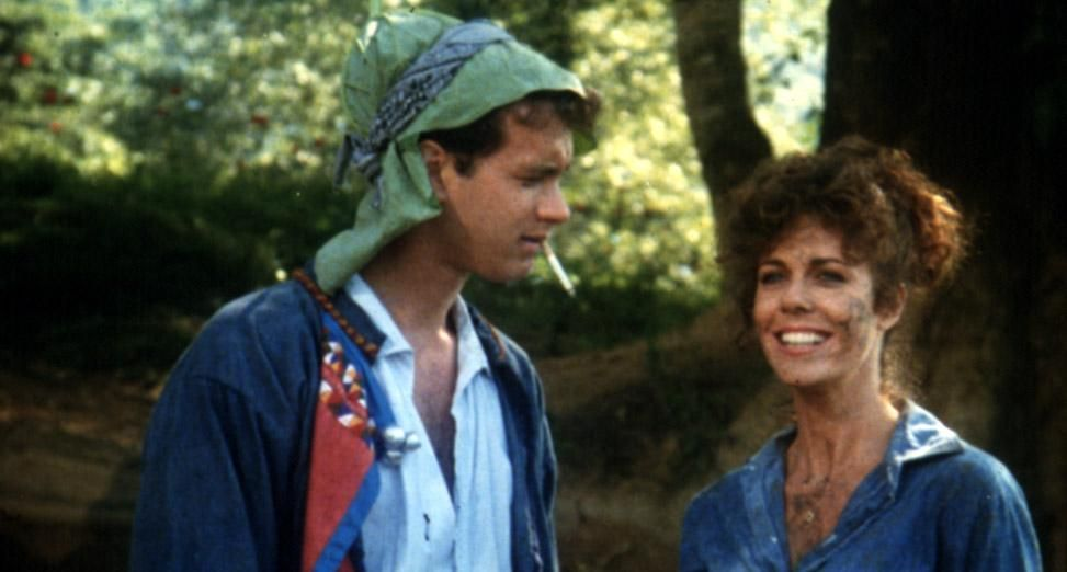 Tom Hanks and Rita Wilson in Volunteers