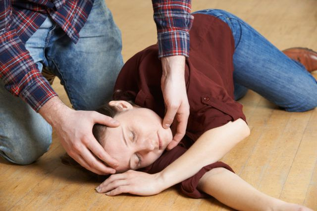 An unconscious person