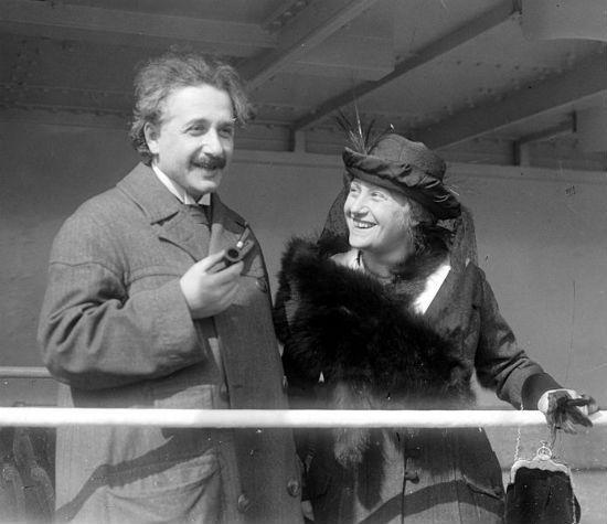 Albert and Elsa Einstein.