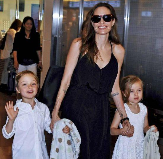 Angelina Jolie twins.