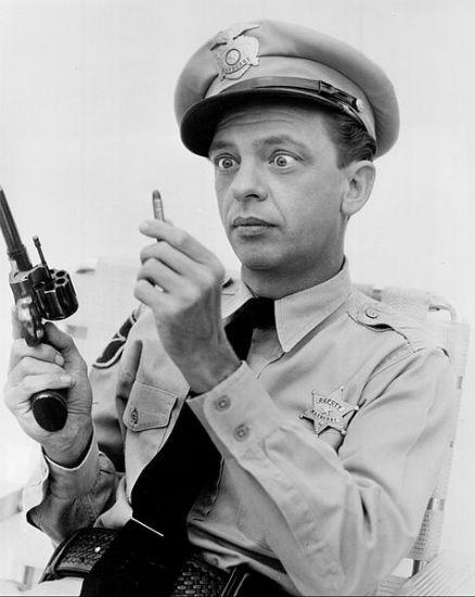Don Knotts as Barney Fife.