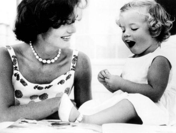 Caroline Kennedy baby photo.