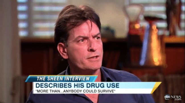 Charlie Sheen interview.