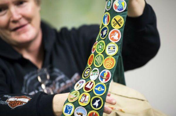 Diane Blythe Boy Scout Badges.