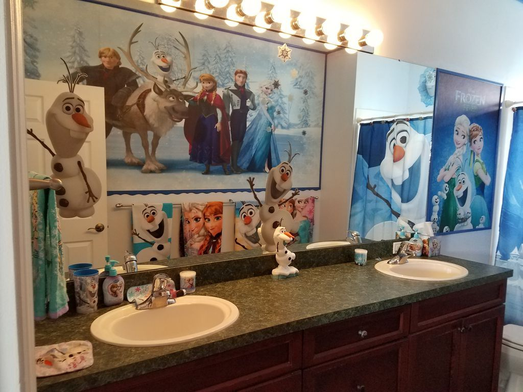 Frozen Disney House Bathroom