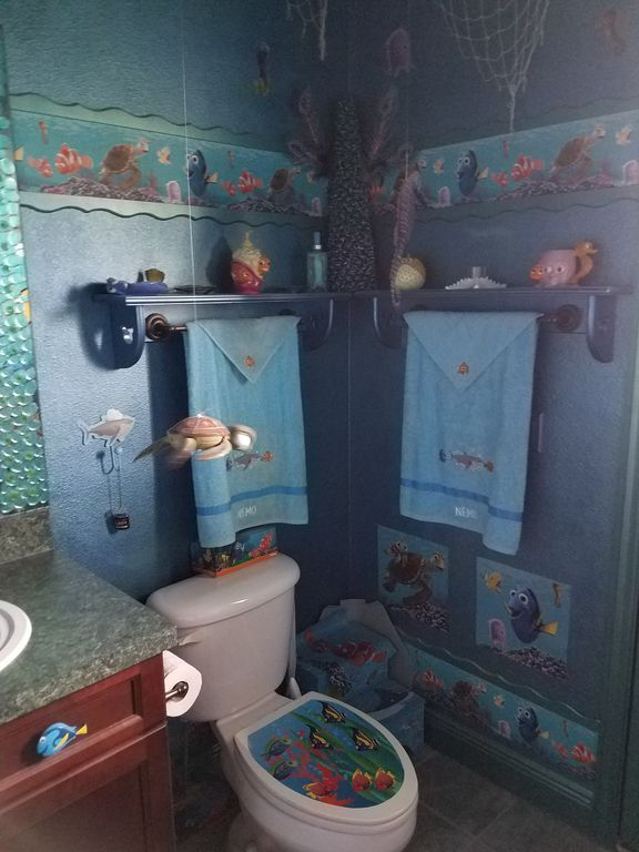 Finding Nemo disney house bathroom