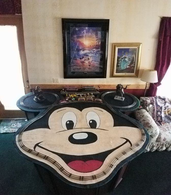 Disney house card table