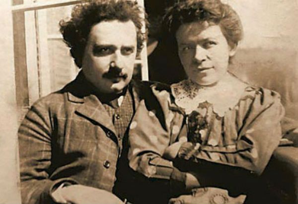 Albert Einstein and Mileva Maric.