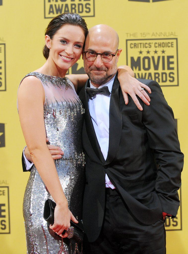Stanley Tucci and Emily Blunt at the Critics' Choice Awards