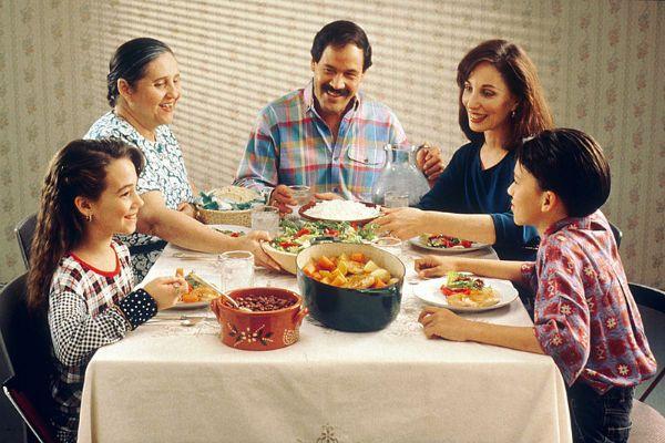 A family dinner.