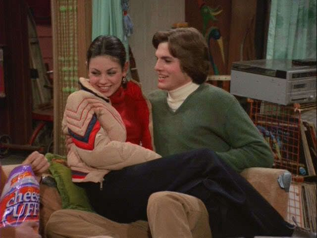 Ashton and Mila on That 70's Show