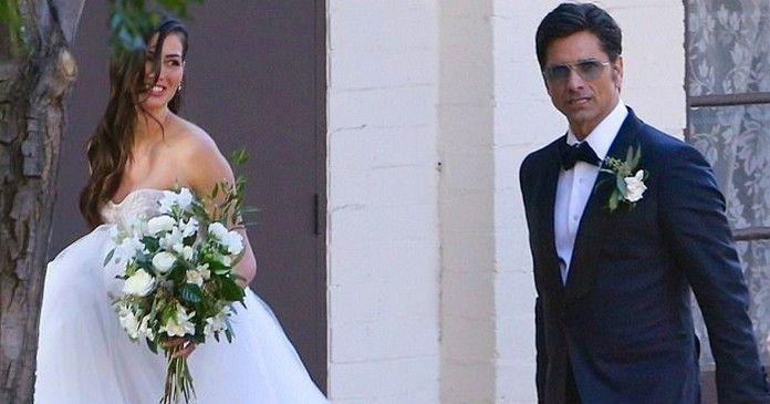 John Stamos and Caitlin McHugh at their wedding