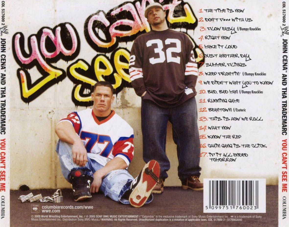 John Cena's rap albuma cover