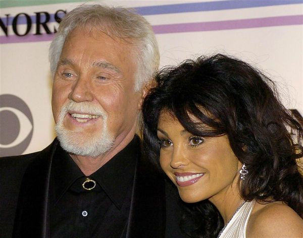 Kenny Rogers and his wife Wanda Miller.