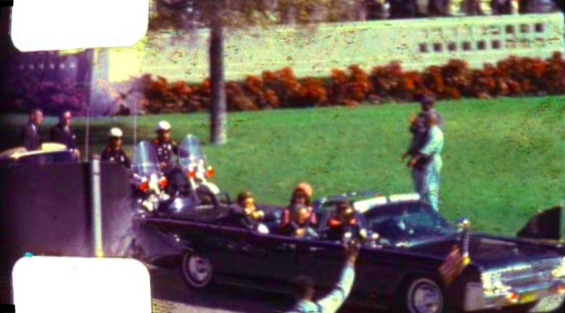 A still from Abraham Zapruder's footage of President Kennedy's assassination