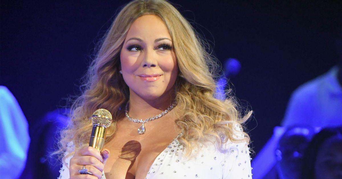 Mariah Carey on stage