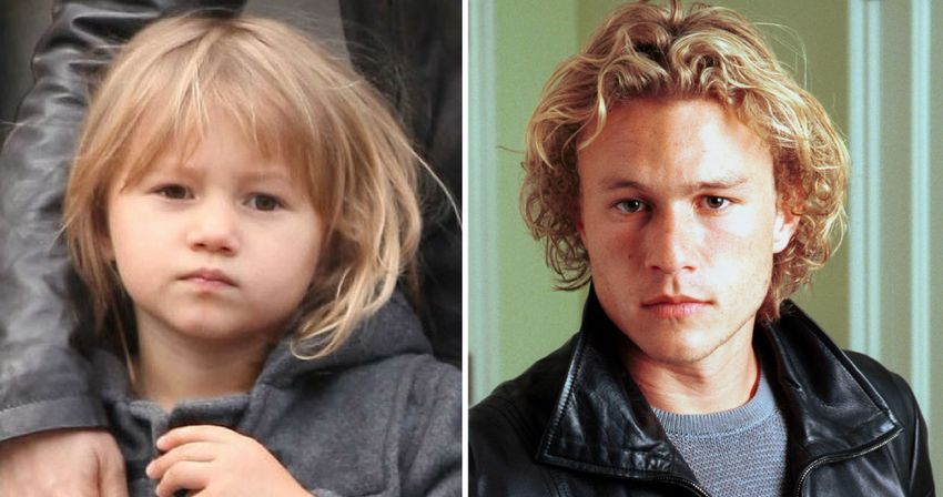 Heath and Matilda Ledger